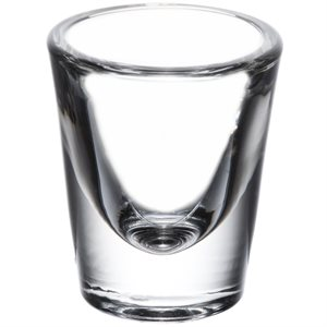 "Verre, ""Shooter Whisky"", 7/8 Oz"