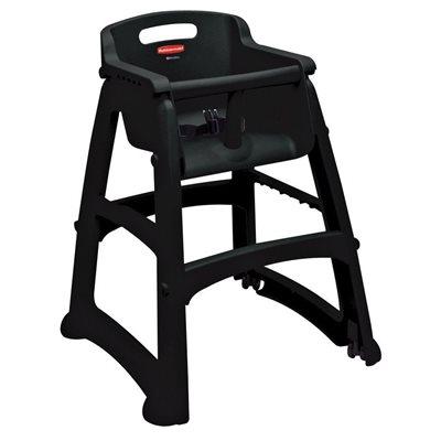 Chaise Haute Enfant Avec Roulette Assemble Noir