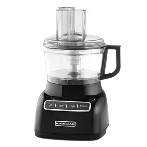 Food Processor 7-Cup Bowl, 3 Function Design, Onyx Black