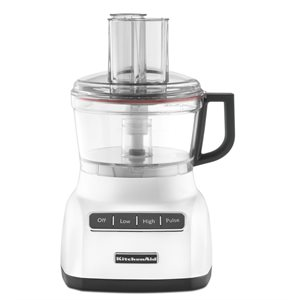 Food Processor 7-Cup Bowl, 3 Function Design, White
