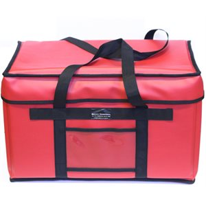 "Bag, Pizza Delivery, Extra Large, Red, 22 X 13 x 13 Inches, ""Mow"""