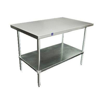 Table en acier inoxydable 2 tages 76 x 122 x 86 cm - Table en acier inoxydable ...